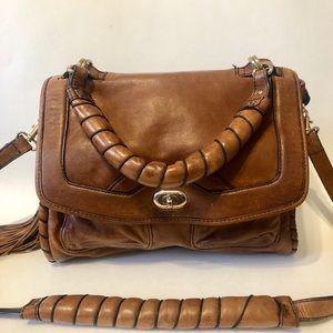 Cynthia Rowley Brown Leather Shoulder Bag